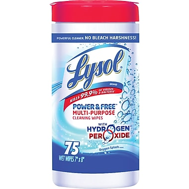 Lysol Power & Free Multi-Purpose Wipes, 75 Wipes/Pack