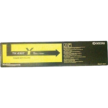 Kyocera Mita Yellow Toner Cartridge (TK-8307Y), High Yield