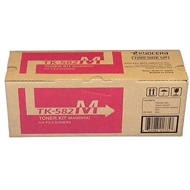 Kyocera Mita TK-582M Magenta Toner Cartridge (1T02KTBUS0), High Yield