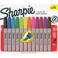 Sharpie® Permanent Marker, Brush Tip, Assorted, Dozen