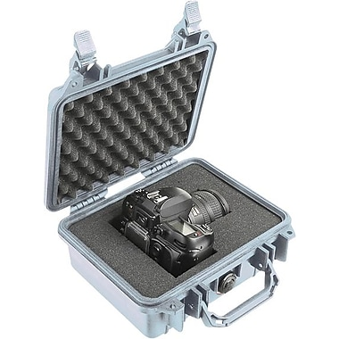 Pelican 1200 Case with Foam, Silver