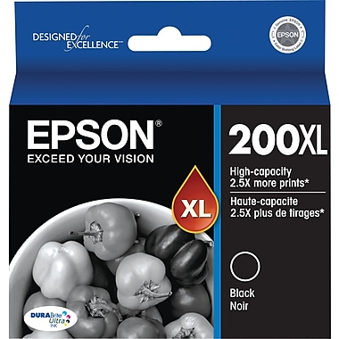 Epson T200XL120 Black Ink Cartridge, High-Yield