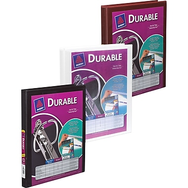 Avery® Durable Slant D-Ring View Binder, 1/2
