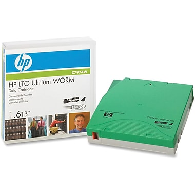 HP  C7974W LTO Ultrium 4 WORM Tape Cartridge, 800 GB (Native)/1.60 TB (Compressed)