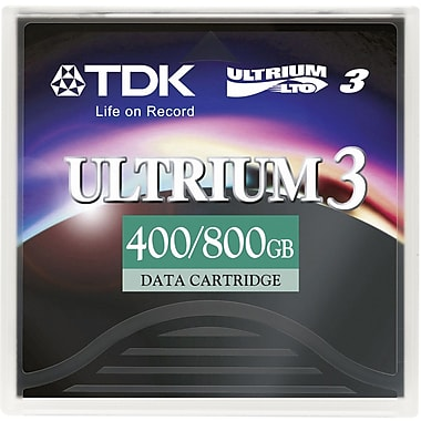 TDK  27791 LTO Ultrium 3 Data Cartridge, 400 GB (Native)/800 GB (Compressed)