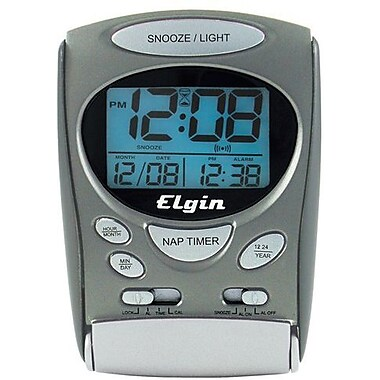 Geneva Clock 3400E LCD Travel Alarm Clock/Timer