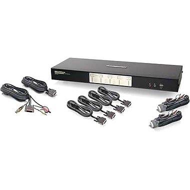 Iogear® GCS1644 Dual View Dual-Link DVI KVMP Switch With Audio, 12 Ports