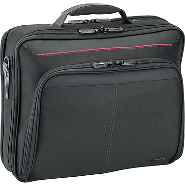 Targus® CN32US Deluxe Clamshell Notebook Case For 16in. Laptops, Black/Red