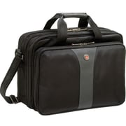 Wenger Legacy Laptop Briefcase, Black/Grey (WA-7654-14F00)
