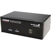 STARTECH.COM® SV231DD2DUA Dual DVI USB KVM Switch With Audio and USB Hub, 2 Ports