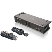 Iogear® GCS1102 DVI KVMP Switch With Cables, 2 Ports