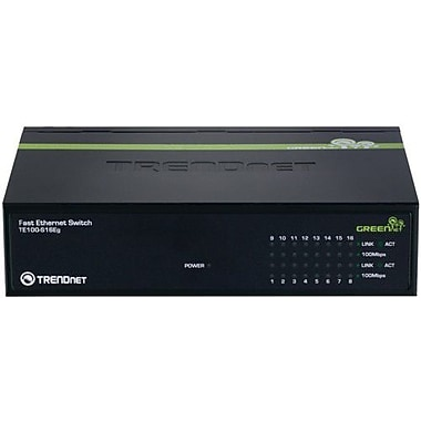 TRENDNET  TE100-S16Eg GREENnet Switch, 16 Ports