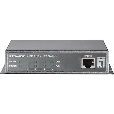 LevelOne® FSW-0503 Unmanaged Ethernet Switch, 5 Ports