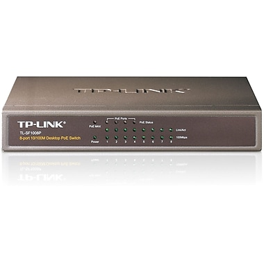 TP-LINK® TL-SF1008P Ethernet Switch, 8 Ports