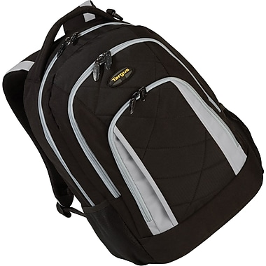 Targus® TSB219US Brilliance II Laptop Backpack For 16in. Notebook, Black/Gray
