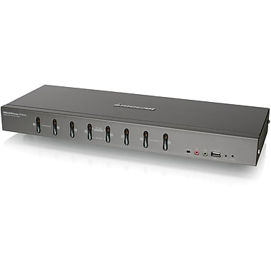 Iogear® GCS1108 DVI KVMP Switch With VGA Support, 8 Ports