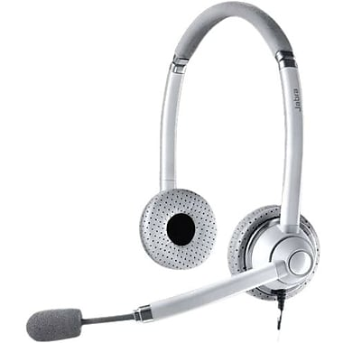 Jabra 750 Light Gray/White Binaural Headset For UC Voice Applications