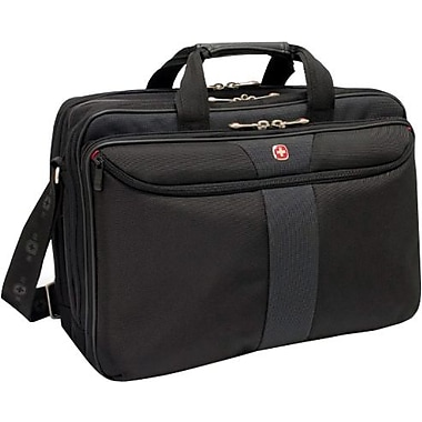 SwissGear® WA-7102-02F00 Coral Business Case For 15.4in. Laptops, Black