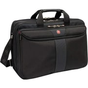 SwissGear® WA-7102-02F00 Coral Business Case For 15.4 Laptops, Black