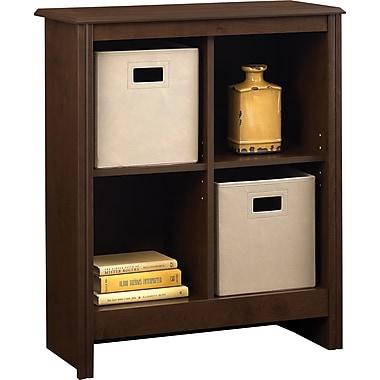 Ameriwood Carson 4-Cube Storage Organizer Bookcase, Resort Cherry