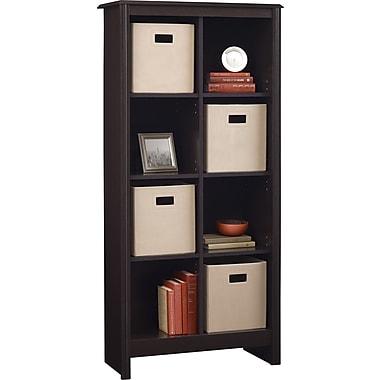 Ameriwood Carson 8-Cube Storage Organizer, Dark Roast