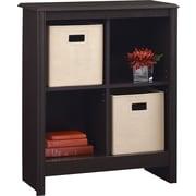 Ameriwood® Carson 4-Cube Storage Organizer Bookcase, Dark Roast