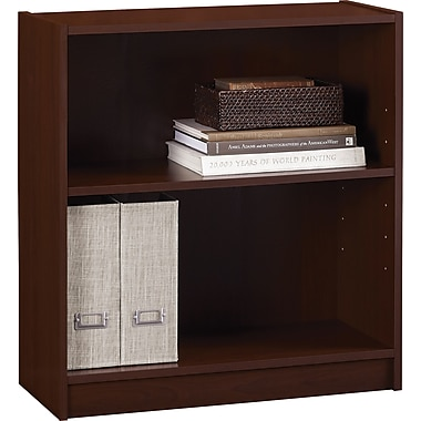 Staples Hayden Laminate Bookcase, 2-shelf, Hilton Cherry