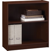 Staples Hayden 2-Shelf Laminate Bookcase, Hilton Cherry