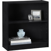 Staples Hayden 2-Shelf Laminate Bookcase, Midnight Onyx