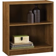 Staples® Hayden™ Laminate Bookcase, 2-shelf, Amber Grain