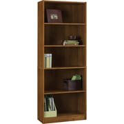 Hayden 5-Shelf Laminate Bookcase, Amber Grain