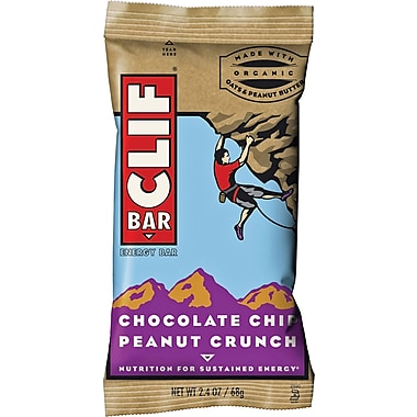 Clif® Bars Chocolate Chip Peanut Crunch, 2.4 oz. Bars, 12 Bars/Box