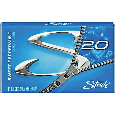 Stride® Peppermint Sugar-Free Gum, 12 Packs/Box