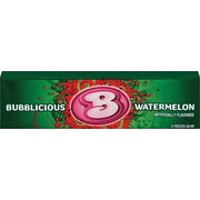 Bubblicious Bubble Gum, Watermelon, 5-Piece Packs, 18 Packs/Box