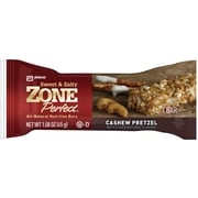 Zone Perfect® Nutrition Bars, Cashew Pretzel, 1.58 oz. Bars, 12 Bars/Box