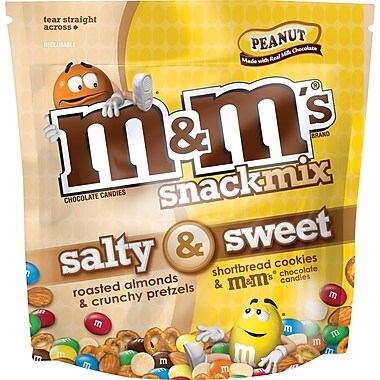 M&M's Salty & Sweet Snack Mix, Peanut, 30 oz. Bags
