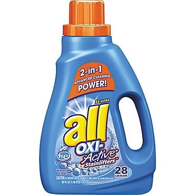 all HE 2x Ultra Oxi-Active Stainlifters Laundry Detergent, Waterfall Clean, 50 oz.