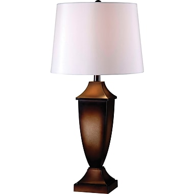 Kenroy Singer 2 Pack Table Lamp w/ Mottled Bronze Finish & 15in. Drum Shade