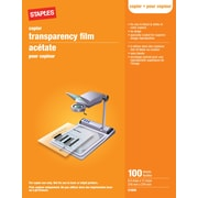 "Staples® Plain Paper Copier Film Without Sensing Stripe, Black and White, 100 Sheets, 8.5"" x 11"""