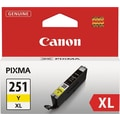 Canon CLI-251XL Yellow Ink Cartridge (6451B001), High Yield