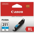 Canon CLI-251XL Cyan Ink Cartridge (6449B001), High Yield