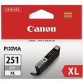 Canon CLI-251XL Gray Ink Cartridge (6452B001), High Yield