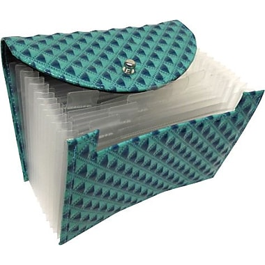 Textured Coupon File, Diamond Pattern, Full Expansion, Teal