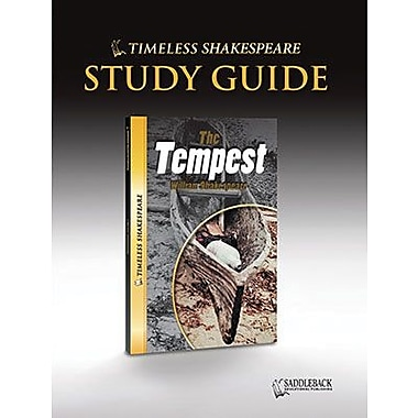 Saddleback Educational Publishing® Timeless Shakespeare; The Tempest, Study Guide, CD, Grades 9-12
