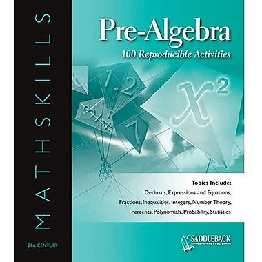 Saddleback Educational Publishing® Mathskills Pre-Algebra Binder; Grades 6-12