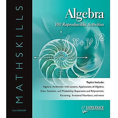 Saddleback Educational Publishing® Mathskills Algebra Binder; Grades 6-12
