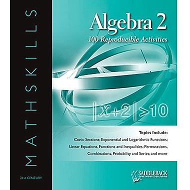 Saddleback Educational Publishing® Mathskills Algebra 2 Binder; Grades 6-12
