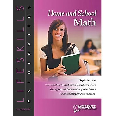 Saddleback Educational Publishing® Home and School Math (Enhanced eBook); Grades 6-12