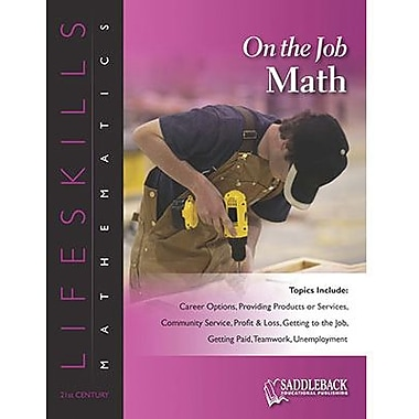 Saddleback Educational Publishing® On the Job Math (Enhanced eBook); Grades 6-12