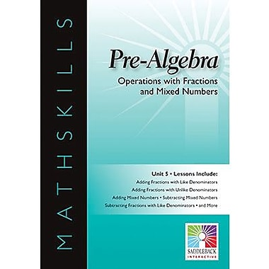 Saddleback Educational Publishing® Math Skills; Operations with Fractions & Mixed Numbers, IWB